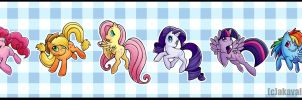 Mane Six Keychains by Avalanche-Design