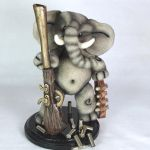 Elephant with Sculpted Antique Gun  - Available by AlwaysSuagarCoated