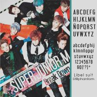 Super junior m Breakdown   Font by StillPhantom