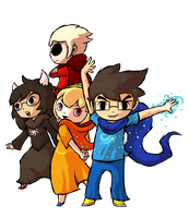 Homestuck Kids - Windwaker Style by Aviarei