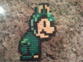 Mario in Frog Suit Bead Sprite by WickedAwesomeMario81