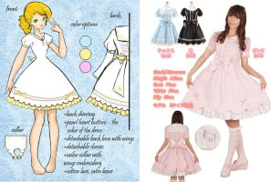 wing themed dress for bodyline by may-chu