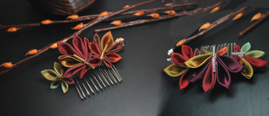 Autumn Leaves combs by hanatsukuri