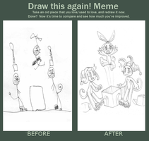 Before and After meme by Axl-fox
