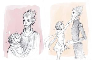 Sketch: Pitch and child by Anree-Bekker