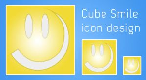 Cube Smile icon design by rasulh
