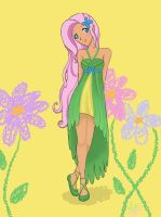 Fluttershy Grand Galloping (Party) Dress by StrawberryJamSession