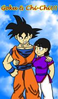 Goku and Chi-Chi by JoeyTheMostAwesome