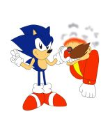 Sonic and Dr.Robotnik 22th Anniversary by ClassicSonicSatAm