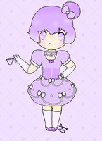 Teapot Girl - Shy Violet for BlueHecate by SunflowerDragon