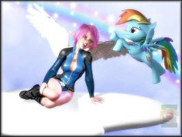 -Rainbow Dash Awesomeness- by ken1171