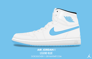 Air Jordan I 'Legend Blue' by DCrossover11