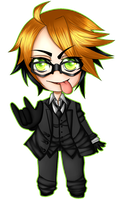 Ronald Knox Chibi by Lynnrenk
