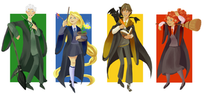 Hogwarts AU by Jeananas