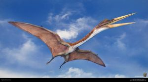 Quetzalcoatlus. The Stomping Land. 01 by Swordlord3d