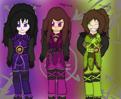 Ninjago Girls Fusion Suits by Skyracinghero717