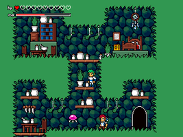 Elvish Knight and Herbalist in Caves Screenshot by JustinGameDesign