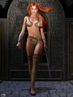 Red-Headed Barbarian Queen by Athenion