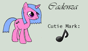 MLP Adoptable-Cadenza (SELLING FOR 3 POINTS) by ShugoGurl