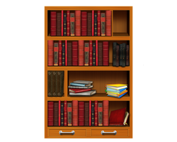 Png Bookshelf by Moonglowlilly