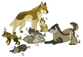 Wolf Family Adopts: Closed by YelloAdopts