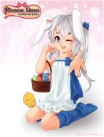 :Rinmarugames: April banner Happy Easter by PrinceOfRedroses