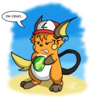 Ash evolved into Raichu! by Zohaku