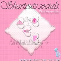 Rainmeter Pink Shorcuts social by candybubblesweety