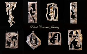 More fused silver pendants... by blackcurrantjewelry