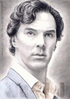 Benedict Cumberbatch miniature by whu-wei