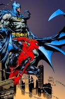 Batman and Spider-Man colour by Rustyoldtown