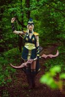 Sherwood Forest Ashe Cosplay: I only need one shot by Hanuro-Sakura