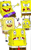 The Many Faces of SpongeBob by pickles0629
