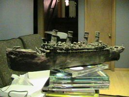 My Titanic clay model 1 by cruiseshipz