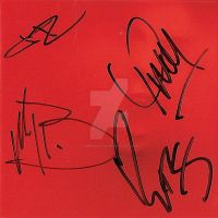 Signed RED CD Cover by timberwolf90