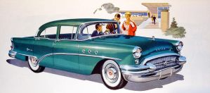 age of chrome and fins: Buick 5 by Peterhoff3