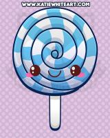 Kawaii Blue Lollipop by pai-thagoras