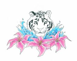 Tiger lily half done by experiment48602