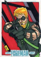 Green Arrow PSC Sketch Card by chris-foreman