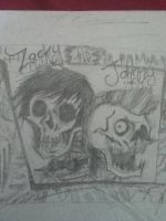 Zacky and Johnny skulls by LauRAWR22