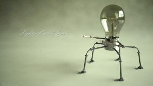 Light Bulb Spider by Relderson