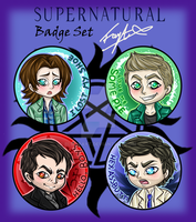 Supernatural Badge set! by Blue-Fayt