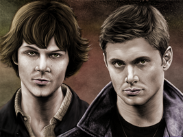 Sam and Dean Winchester by swisidniak