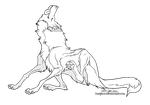 Wolf Scratch (Free Lineart) by Daexmos