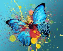 Butterfly abstract wallpaper by Forbs1994