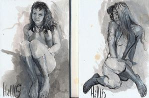 women of dynamite sketch 2 by charles-hall