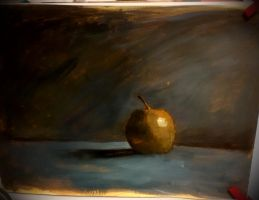 Golden apple/ akril test by flojos