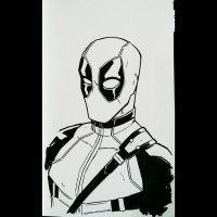 Daily Sketches 027: Deadpool by AndrewKwan
