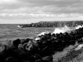 Breaking waves by goldmines