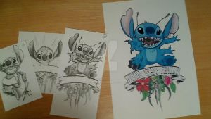 Lilo and Stitch Tattoo Design by ClickyCrisp